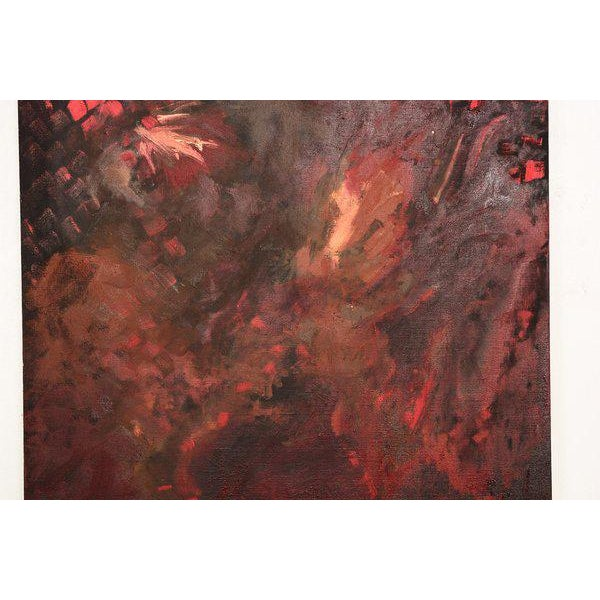 Abstract Oil On Canvas RED For Sale In San Diego - Image 6 of 7