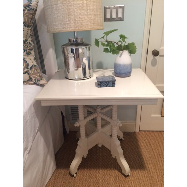 Victorian White Side Table - Image 3 of 9