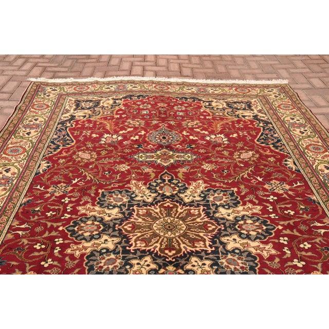 Vintage Turkish Handmade Wool Rug - 6′7″ × 9′10″ For Sale - Image 4 of 8