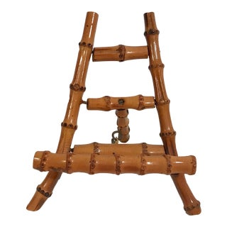 Vintage Petite Bamboo Mini Easel For Sale