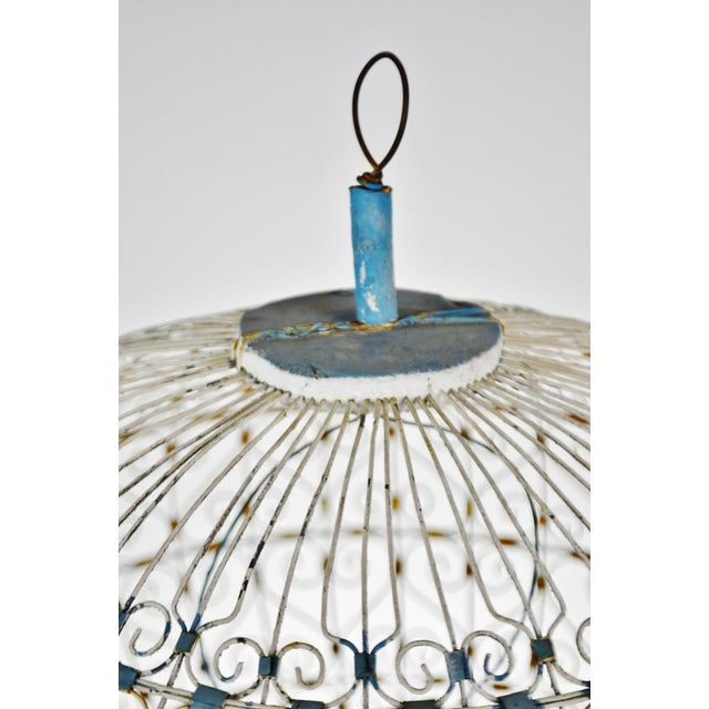 Early 20th Century Antique French Victorian Dome Top Wire Bird Cage For Sale - Image 5 of 13