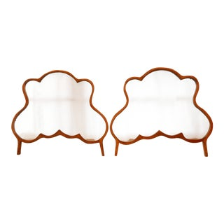 Vintage Hand-Carved Dutch Window Screens - A Pair