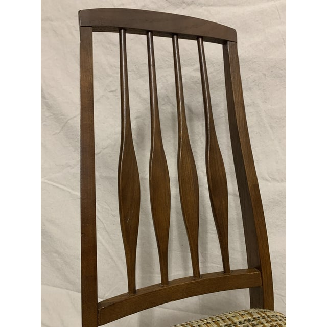 Brown Mid Century Modern Keller Dining Chairs - Set of 4 For Sale - Image 8 of 13