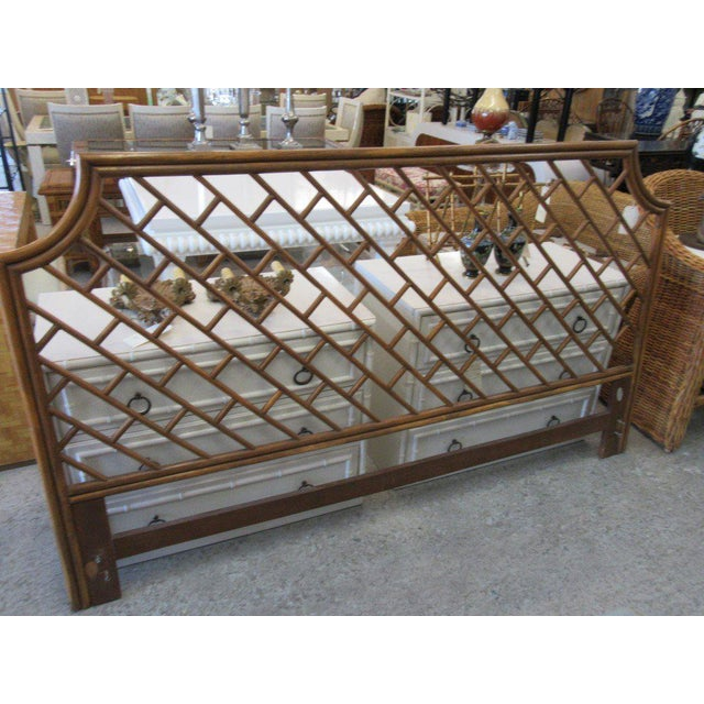 King Size Rattan Chippendale Headboard - Image 5 of 6