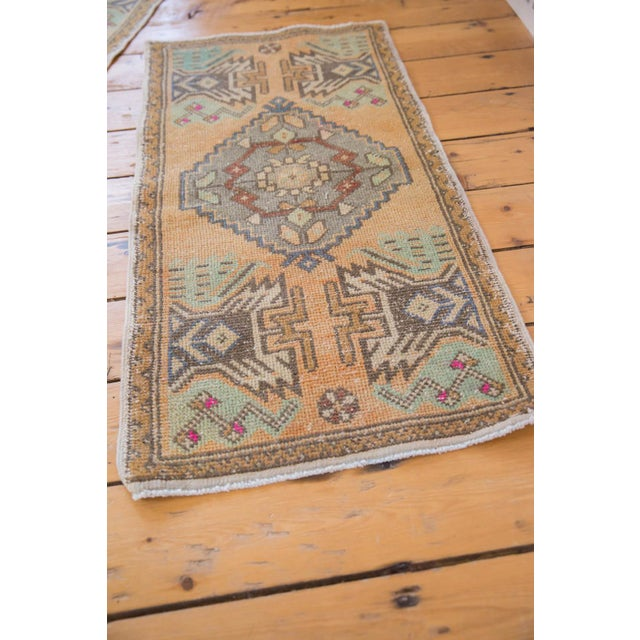 """Old New House Vintage Distressed Oushak Rug Mat Runner - 1'9"""" X 3'5"""" For Sale - Image 4 of 5"""