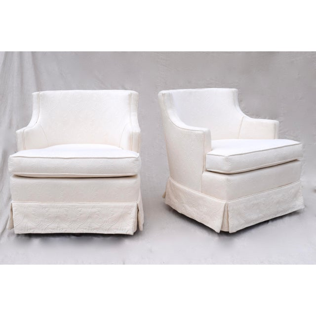 Swivel Rocking Club Chairs - A Pair - Image 3 of 11