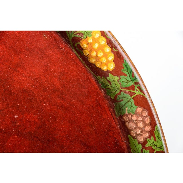 """Late 19th Century Antique Floral Tole Tray, 48"""" Across, C.1890 French For Sale - Image 5 of 12"""