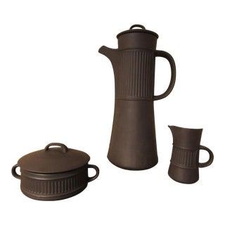 1958 Vintage Jens Quistgaard for Dansk Flamestone Coffee Set For Sale