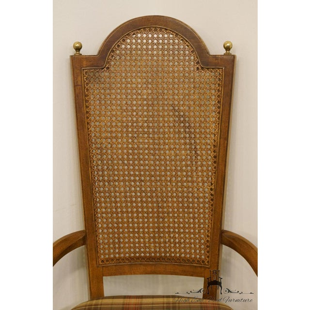Late 20th Century Late 20th Century Vintage Thomasville Furniture Cellini Collection Cane Back Dining Arm Chair For Sale - Image 5 of 13