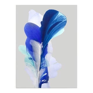 'The Journey of Innocent Blue' by Marta Spendowska, 2019. Contemporary Abstract Floral Mixed Media on Canvas For Sale