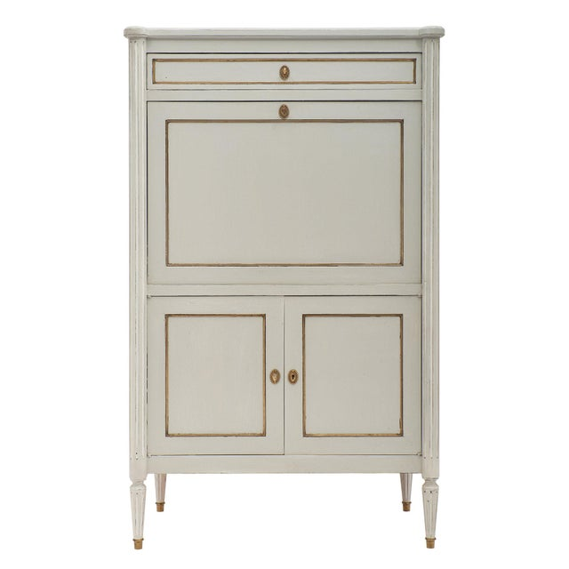 Painted French Antique Secrétaire For Sale - Image 11 of 11