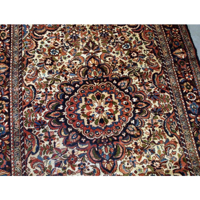 1900s, Handmade Antique Persian Sarouk Rug 3.1' X 5.2' For Sale - Image 9 of 12