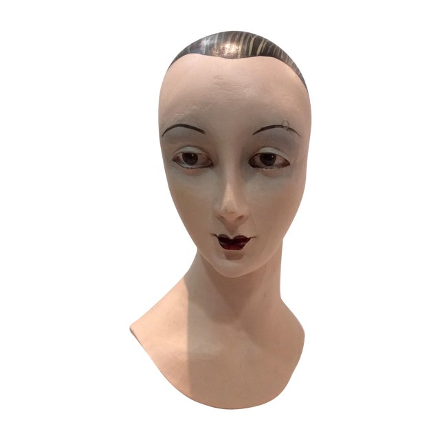 Plaster Mime Bust on Stand - Image 4 of 6