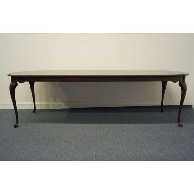 Brown Statton Furniture Banded Mahogany Dining Table For Sale - Image 8 of 11