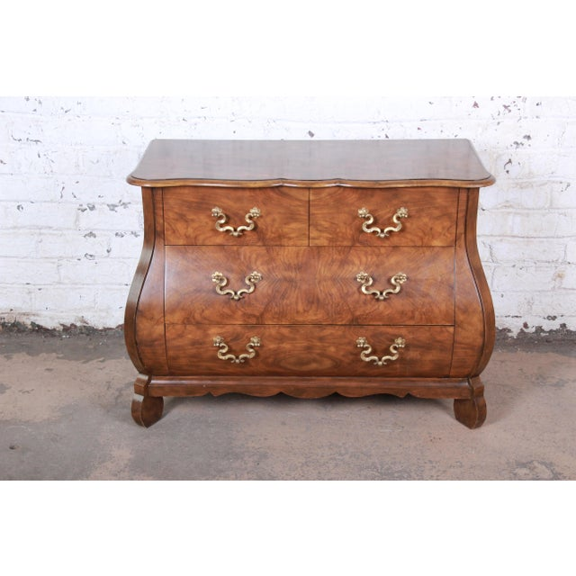 Baker Furniture Burled Walnut Bombay Chest Commode For Sale - Image 13 of 13