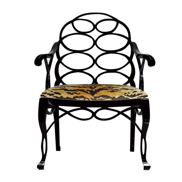 "Asian Truex American Furniture ""Loop Chair"" For Sale - Image 3 of 3"