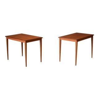 1960s Scandinavian Modern Teak End Tables - a Pair For Sale