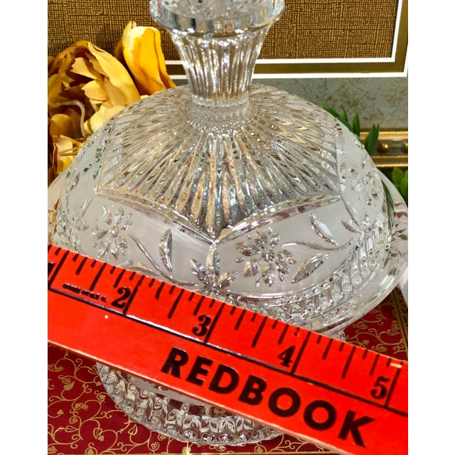Vintage Crystal Dishes With Lids - Set of 3 For Sale - Image 10 of 12