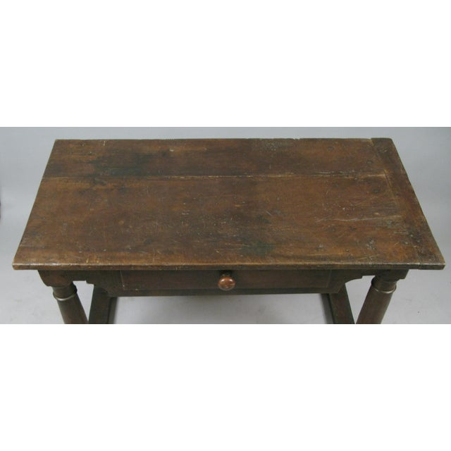 Wood 18th Century Antique Italian Walnut Table For Sale - Image 7 of 8