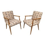 Image of 1950s Vintage T.H. Robsjohn-Gibbings for Widdicomb Dining Chairs- a Pair For Sale