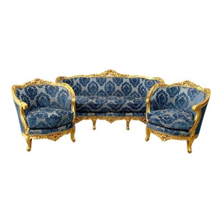 Vintage 1900's French Louis XVI Living Room Set- 3 Pieces For Sale