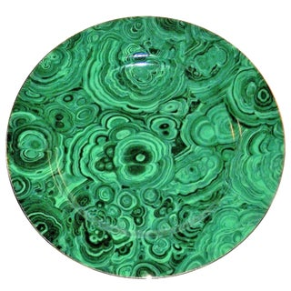 Neiman Marcus Malachite Serving Plate ( Matching Dessert Plates / Cups/ Sauces to Be Listed )
