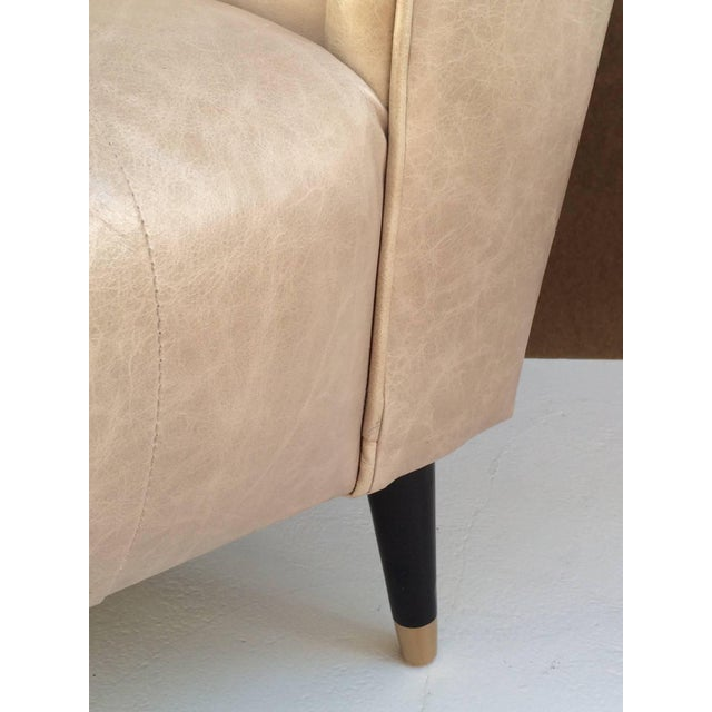 1950s Leather Club Chairs - A Pair For Sale - Image 10 of 10