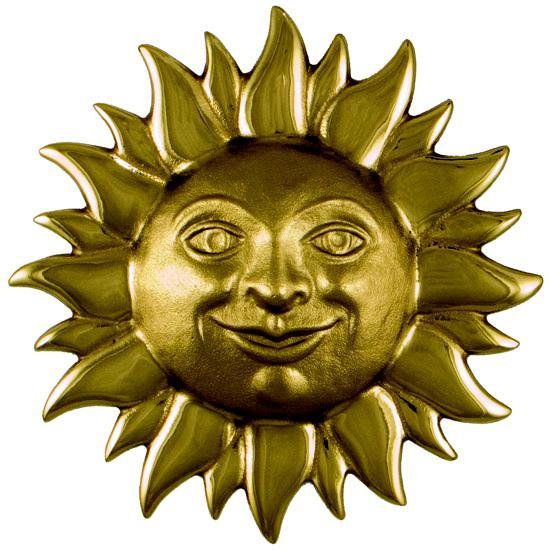 Boho Chic Smiling Sunface Door Knocker For Sale - Image 3 of 4