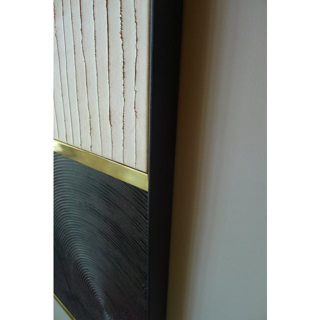 Textured Wall Art Triptych by Paul Marra - 3 Panels For Sale In Los Angeles - Image 6 of 10