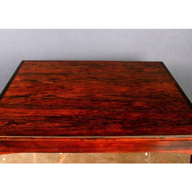 Art Deco French Art Deco Amboyna Veneered Square Table For Sale - Image 3 of 3