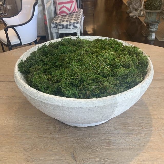 Vintage Concrete Bowl For Sale - Image 11 of 13