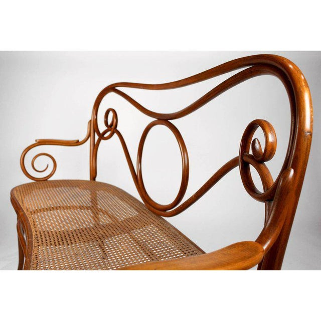 Mid 19th Century Gebruder Thonet Viennese Secessionist Bentwood Settee Designed by August Thonet For Sale - Image 5 of 7