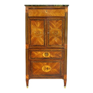 Italian Neoclassic Style Marquetry Cabinet For Sale