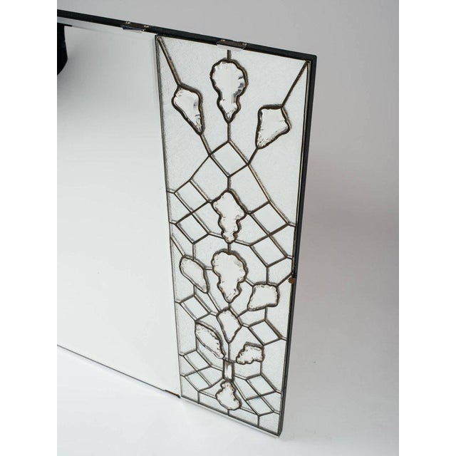 Glass Opulent Hollywood Regency Mirror With Large Cut Crystals, 1940's For Sale - Image 7 of 12