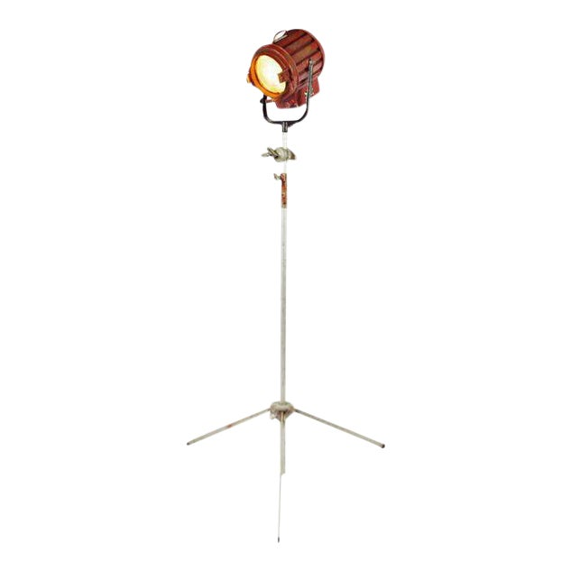 Vintage Mole Richardson Professional Studio Stage Spotlight Industrial Floor Lamp with Boom Attachment - Image 1 of 11