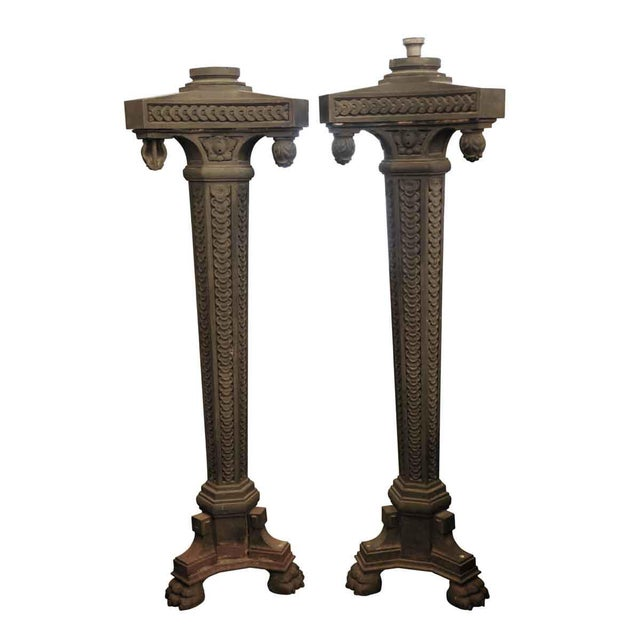 Cast Iron Exterior Claw Foot Lamp Posts - a Pair For Sale - Image 12 of 12