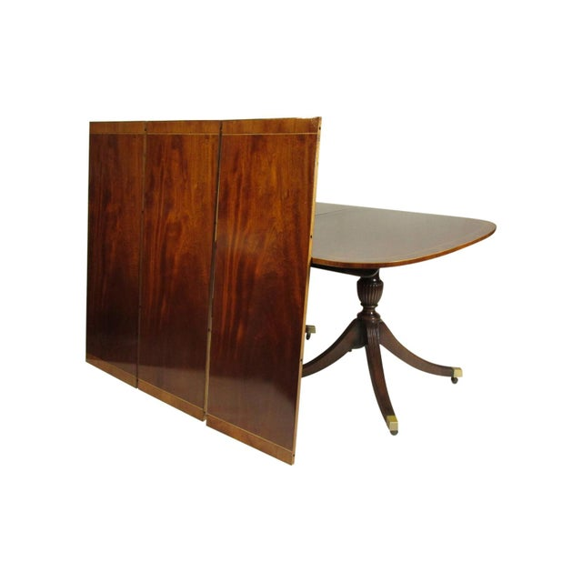 English English Regency-Style Dining Table For Sale - Image 3 of 13