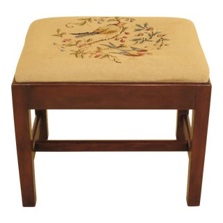 Kittinger Colonial Williamsburg Chippendale Mahogany Stool For Sale