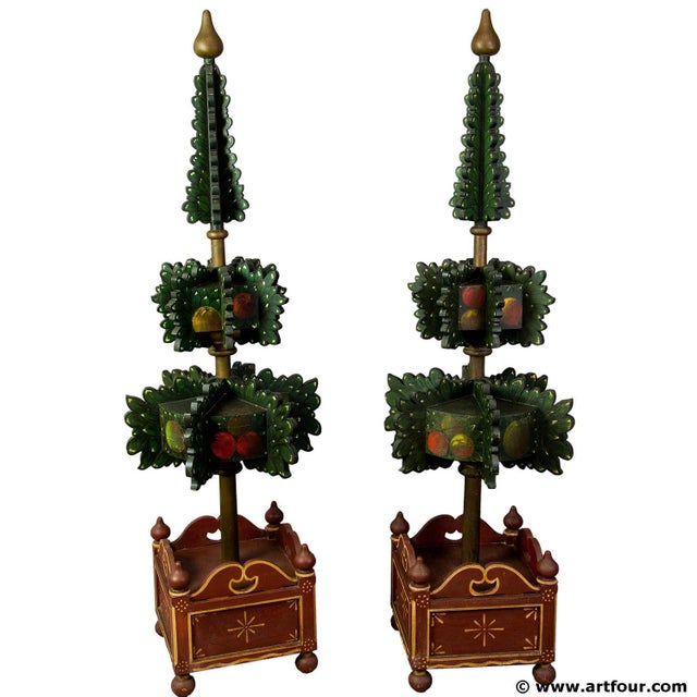 Early 20th Century Pair Of Painted Wood Hall Trees, Germany 1909 For Sale - Image 5 of 5