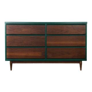 Mid Century Modern Six Drawer Dresser For Sale