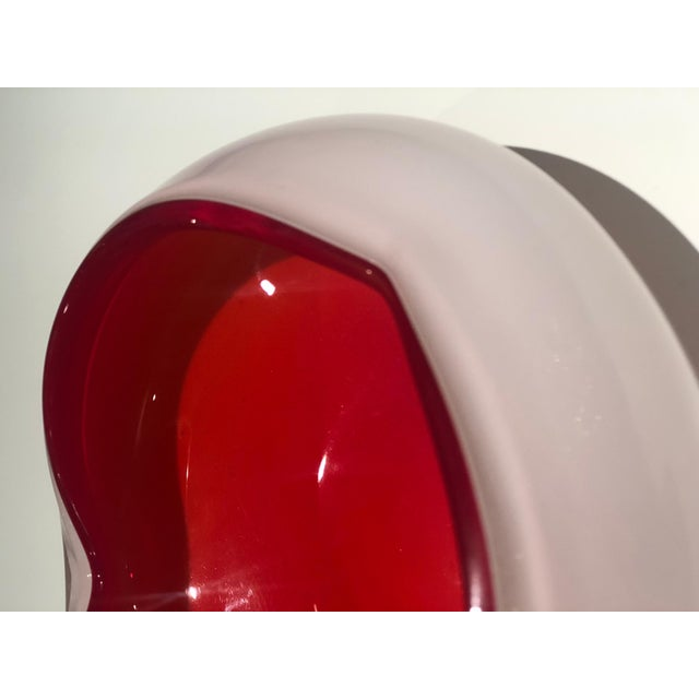Italian Vintage Murano Glass Bowl Attributed to Seguso Vetri d'Arte, 1950s For Sale - Image 9 of 13