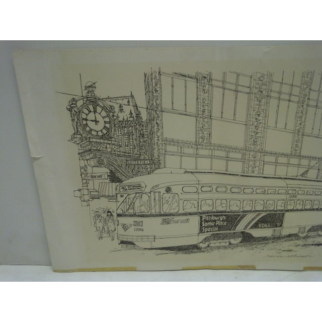 American Pittsburgh PAT Transit Cable Car Print For Sale - Image 3 of 6