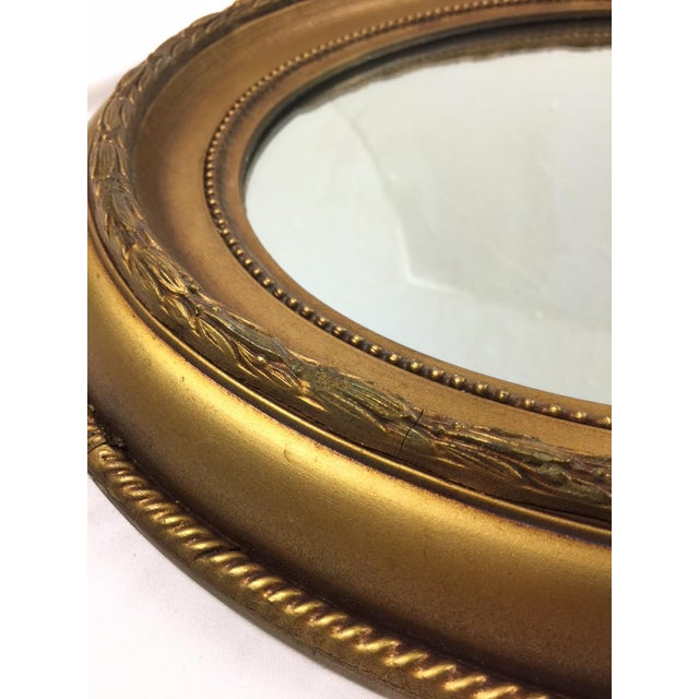 Vintage Hollywood Regency Style Giltwood Oval Mirror - Image 3 of 4