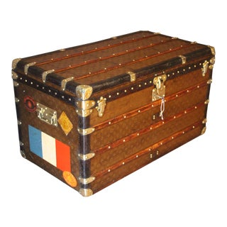1930s Stenciled Monogram Louis Vuitton Trunk, Malle Louis Vuitton For Sale