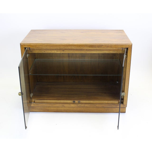 Mid-Century Walnut Cabinets - a Pair For Sale - Image 5 of 8