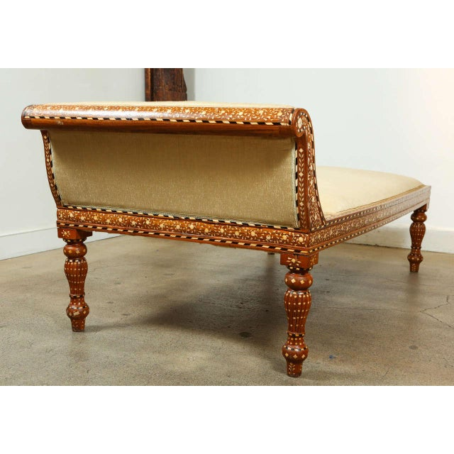 White Anglo-Indian Bone Inlaid Day Bed For Sale - Image 8 of 9