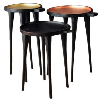 African Style Ethiopian Coffee Tray Tables - Set of 3 For Sale