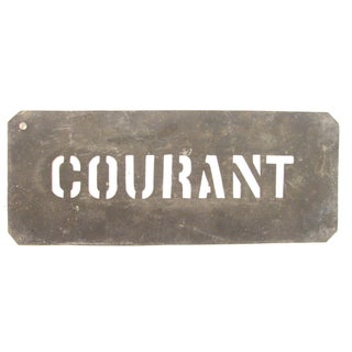 French Zinc Stencil For Sale