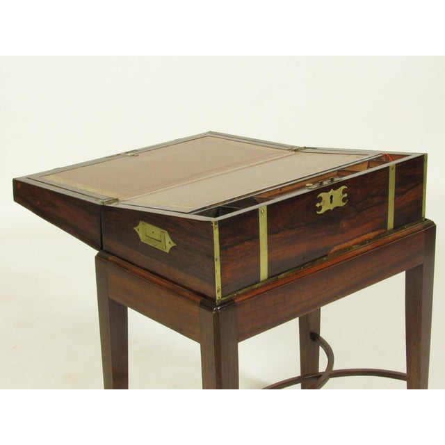 19th Century Regency Lap Desk on Stand For Sale In Boston - Image 6 of 11