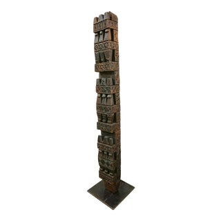 Hand-Carved Wood TOTEM